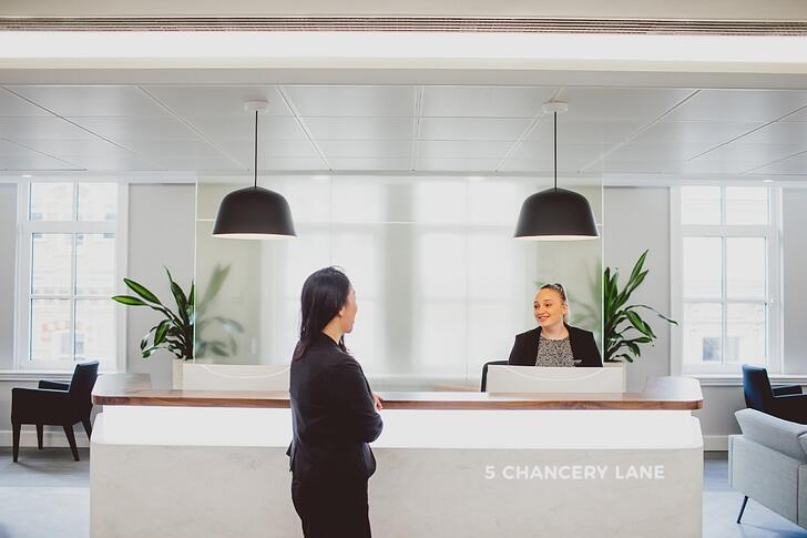 Chancery Lane building reception