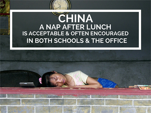 China Office Culture A Nap After Lunch Is Encouraged