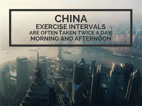 China Office Culture Exercise Intervals Are Taken Twice A Day