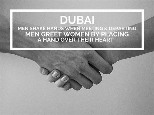 Dubai Office Culture Greeting