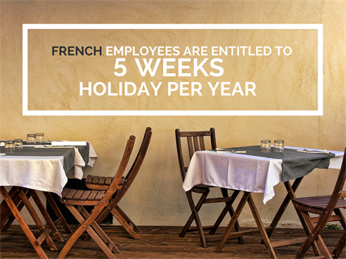 France Office Culture 5 Weeks Holiday