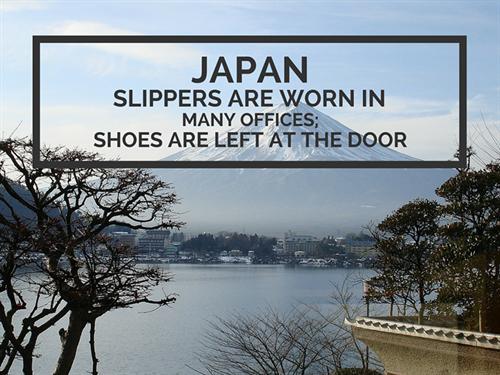 Japan Office Culture No Shoes Worn