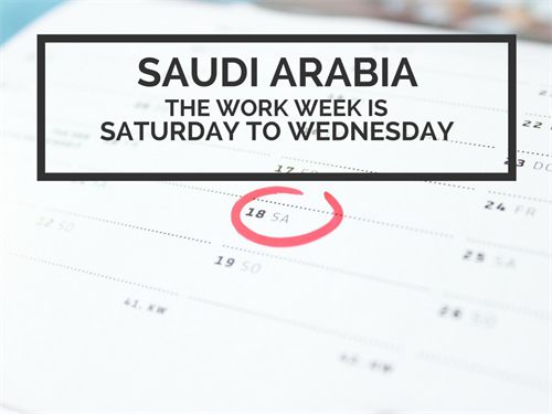 Saudi Arabia Office Culture Working Week