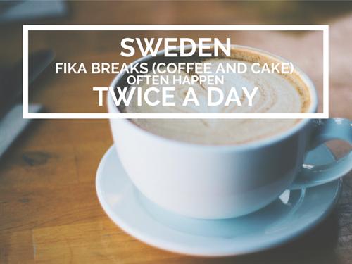 Sweden Office Culture Coffee Break